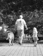Darla, Rick and Emery take a walk.